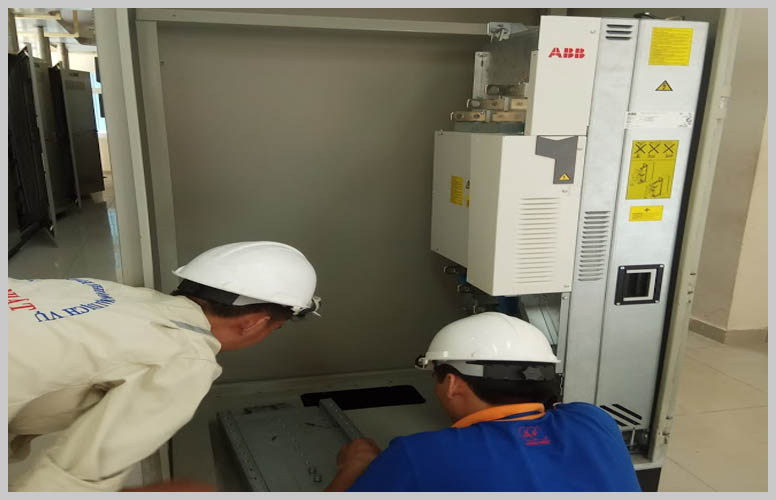 Installation electrical cabinets